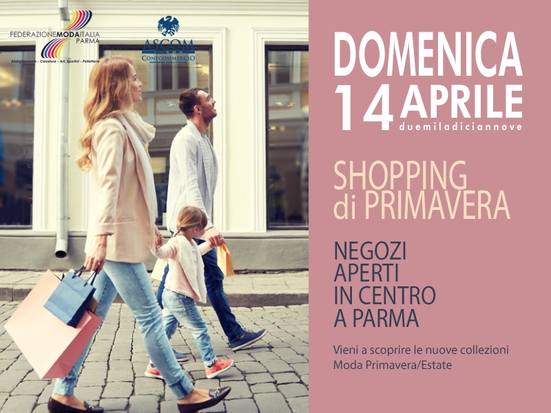 Federmoda - shopping di primavera 14-04-19